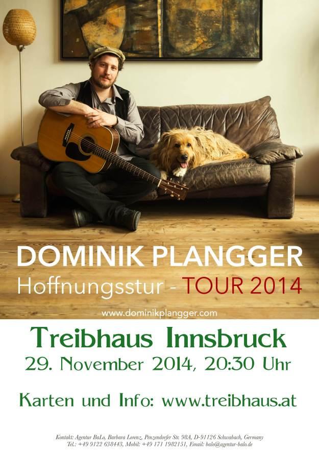 Dominik Plangger Plakat Treibhaus 29 11 14