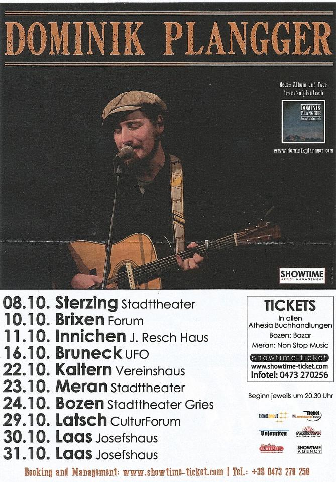 Dominik Planggers Südtirol-Tour im Okt. 2015